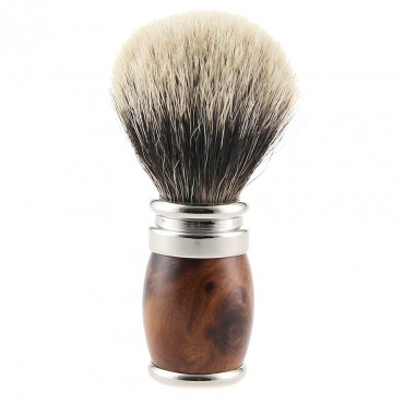 Thuja wood shaving brush & Palladium