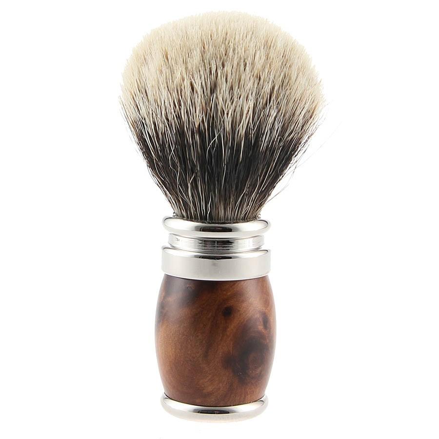 Thuja wood shaving brush & Palladium