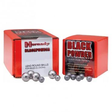 Balles rondes en plomb - Cal .375 - 36 Poudre Noire - Hornady