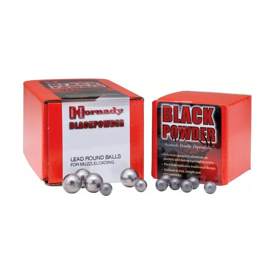 Balles rondes en plomb - Cal .322 - 32 Poudre Noire - Hornady