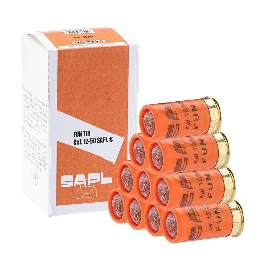 Boite de 10 munitions FUN TIR cal. 12/50 pour Gomm-Cogne