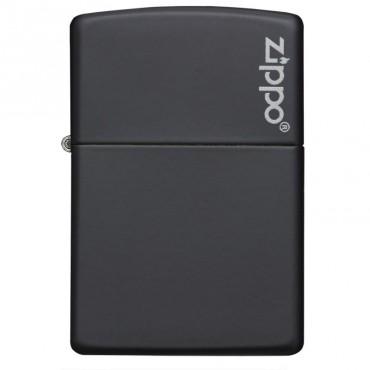 Black Matte Logo - Briquet - Zippo